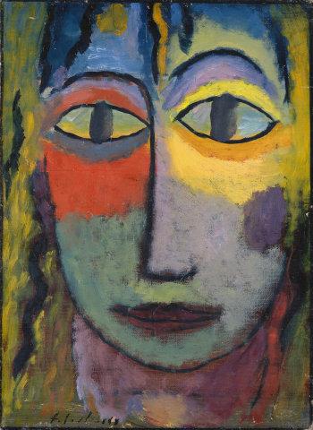Alexeï von Jawlensky, Tête de femme «Méduse», Lumière et Ombre, 1923