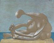 Pablo Picasso, Femme assise sur la plage, 10 février 1937