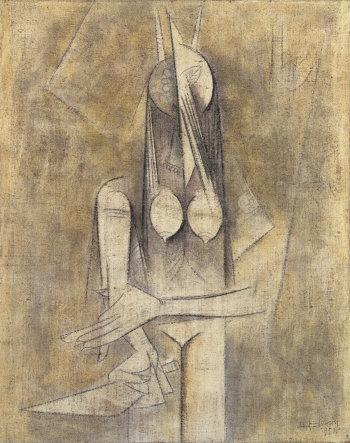 Wifredo Lam, La Femme au couteau, 1950