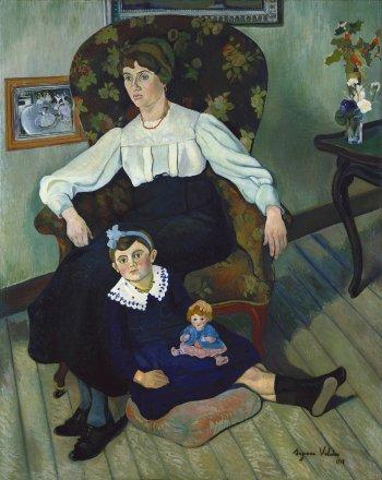Suzanne Valadon, Marie Coca et sa fille Gilberte, 1913